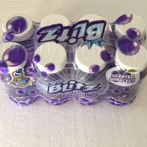 Blitz Scented Bubbles Party 8 Pack Purple 5fl oz